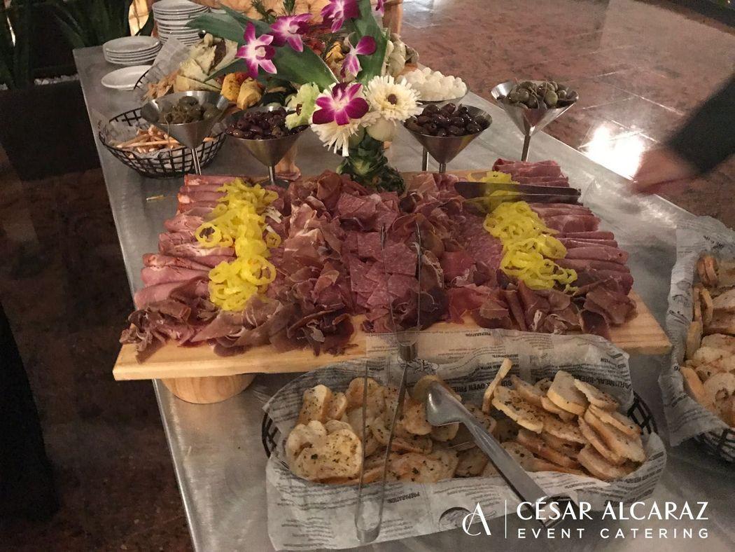 Mesa de Carnes y quesos