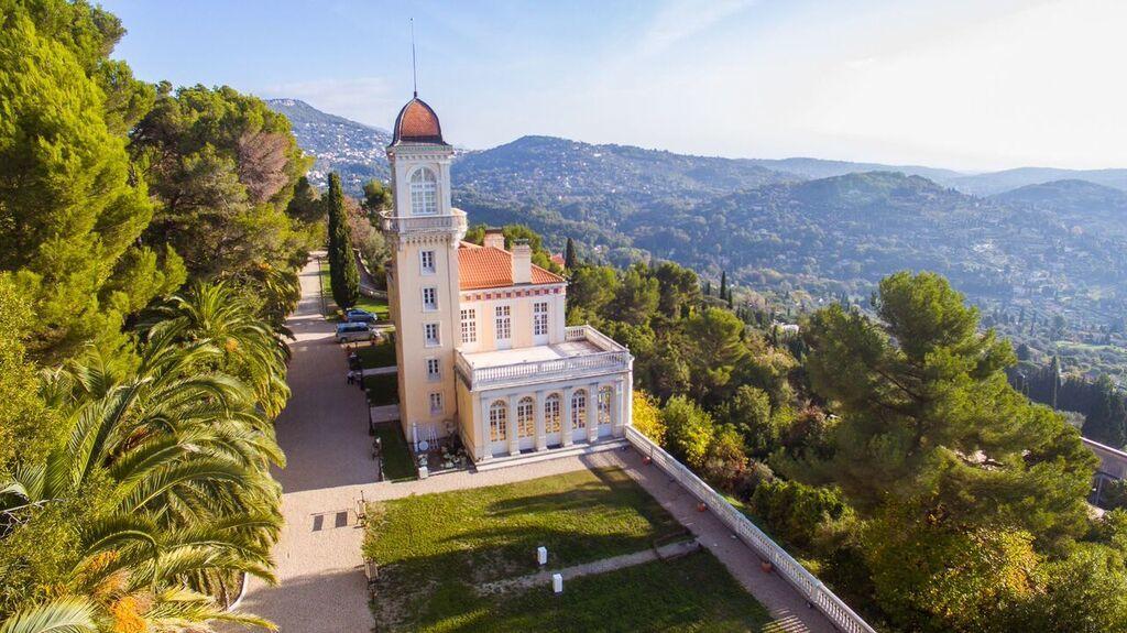 Свадьба во Франции Ницца. Шикарный замок San Georges с видом на Лазурный Берег.
