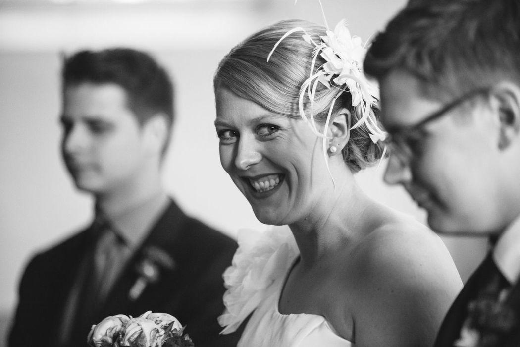 Ich liebe es, wenn man Bräuten ansieht, dass sie wirklich glücklich sind