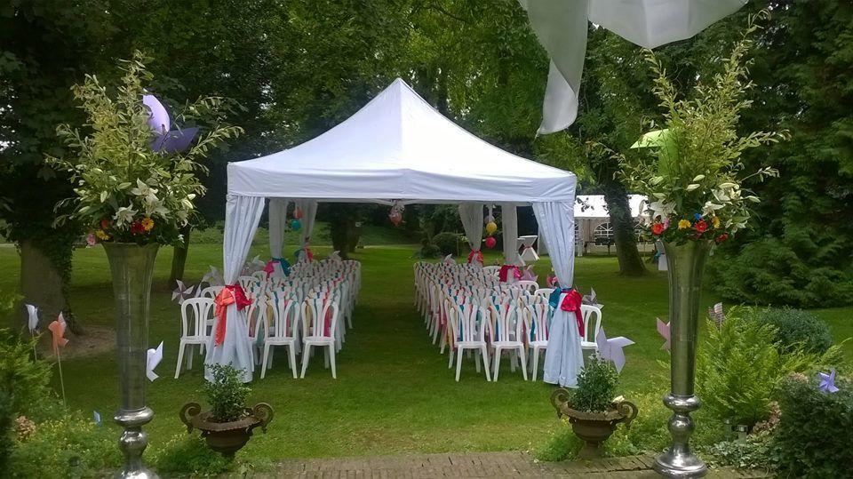 Manoir Le Louis XXI...cérémonie laïque...parc anglais