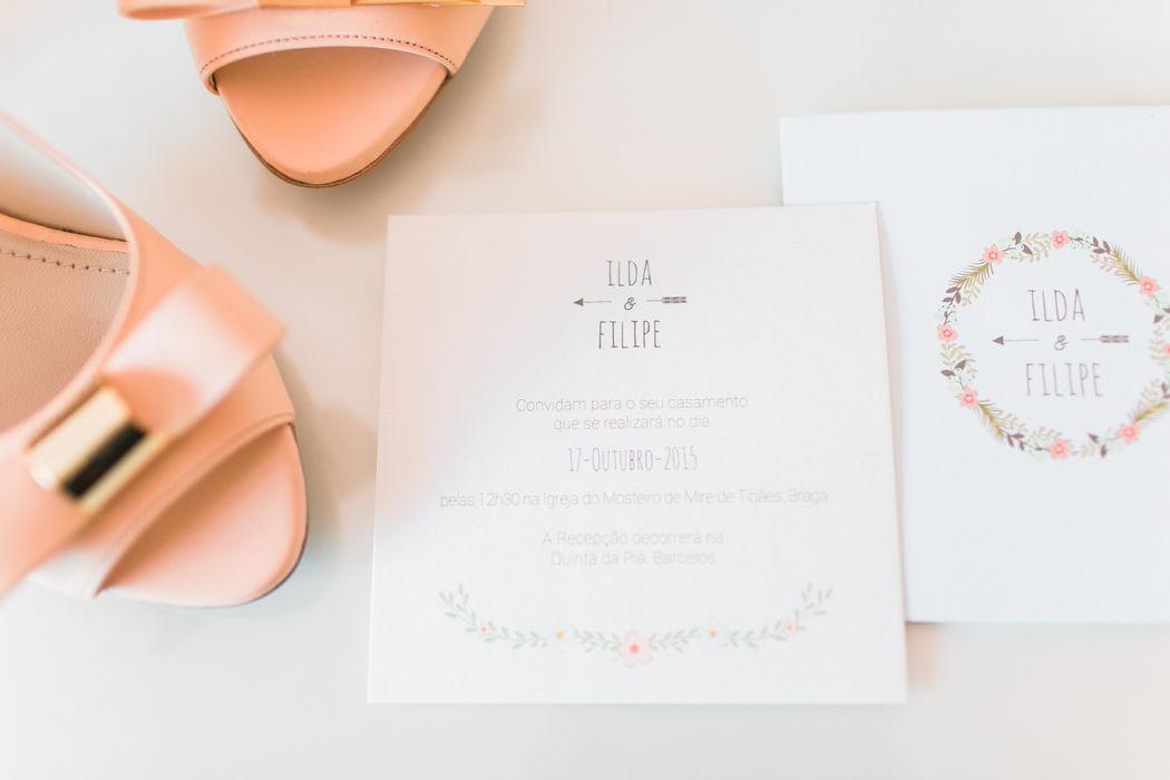Casamento Ilda & Filipe - Convite