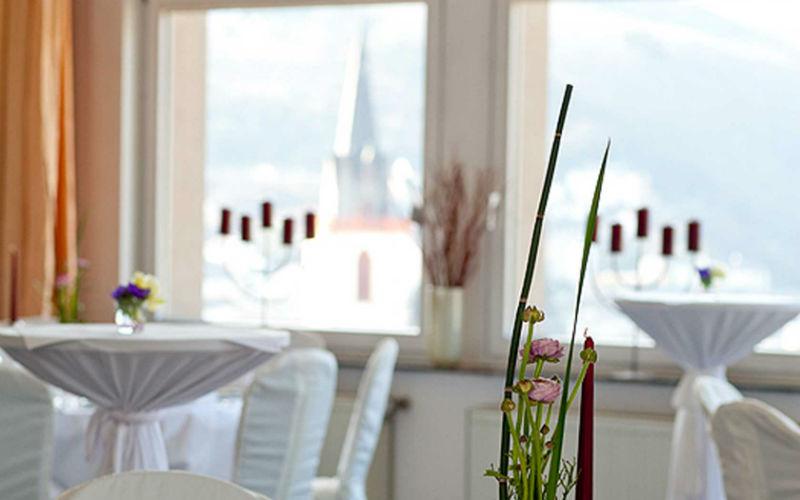 Beispiel: Festempfang, Foto: Burg Klopp.