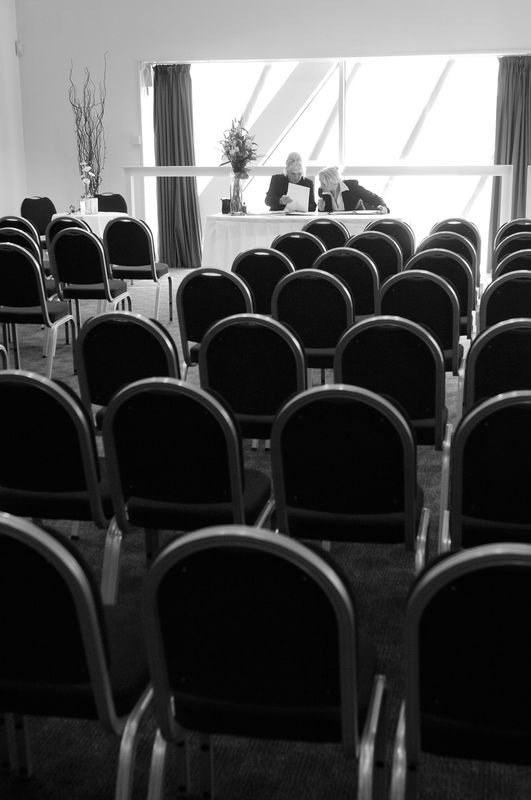 The Hexagon room is a tranquil setting for a ceremony