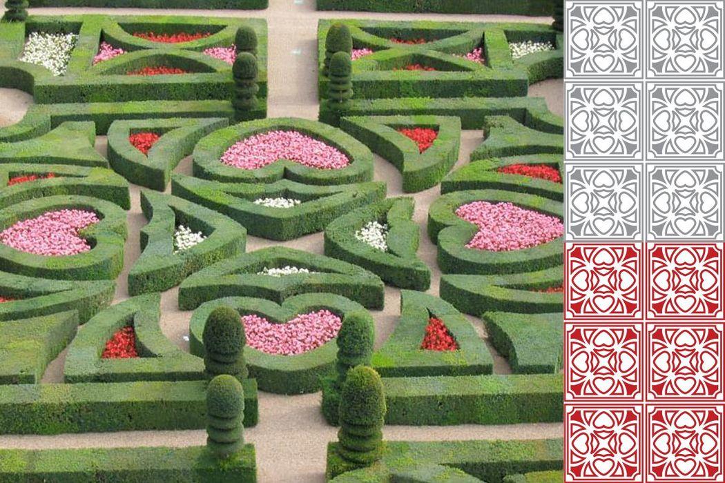 Pilar e Thiago - Jardins de Villandry, local onde a noiva foi pedida em casamento e que serviu de inspiração para o desenvolvimento do pattern e da identidade visual do casamento