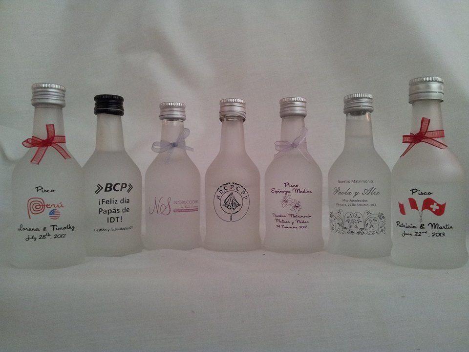 Piscos personalizados Novias -Burdeos 50ml