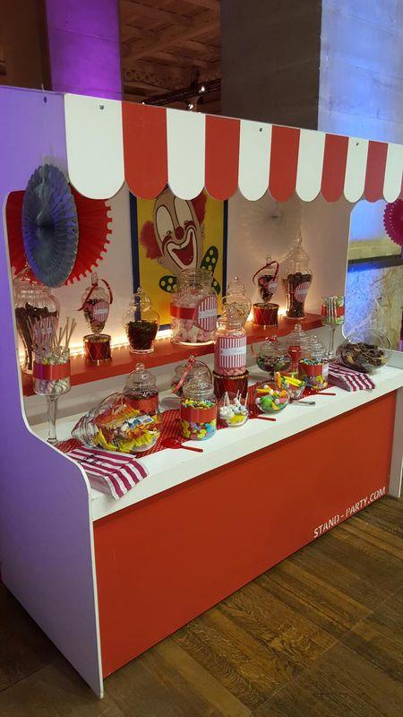 Location bar à bonbons thème cirque