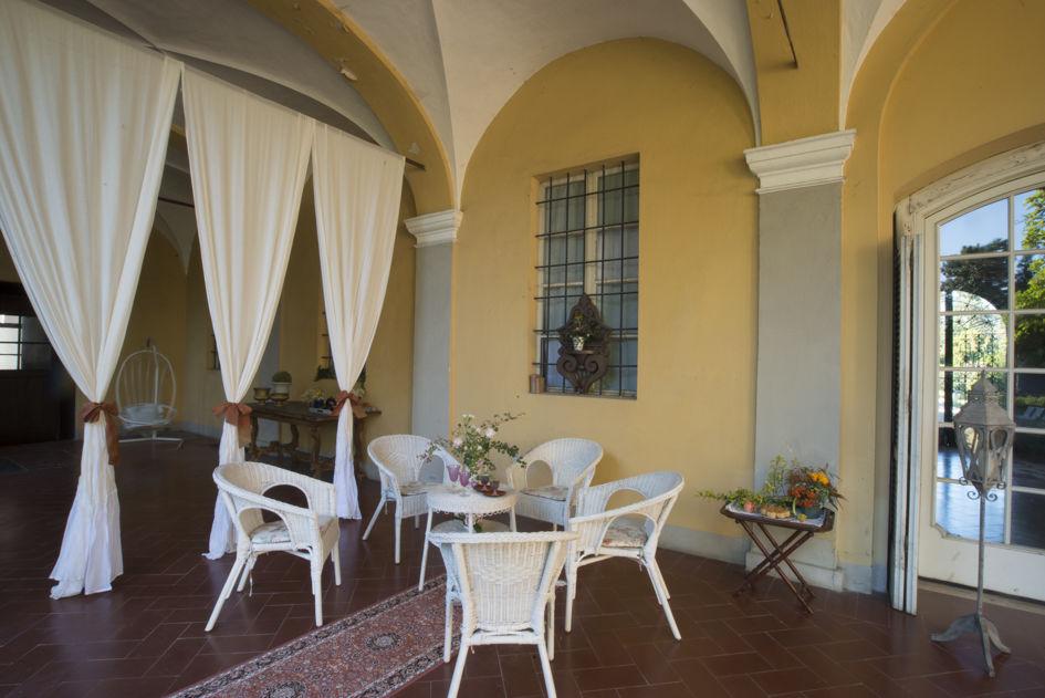 Portico, Villa di Settima