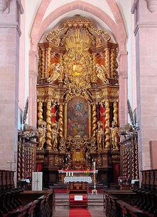 Beispiel: Hochaltar, Foto: Kloster Bronnbach.
