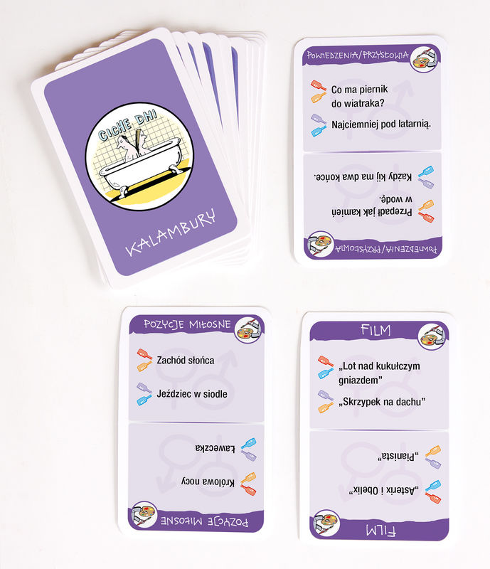 Jeszcze więcej pozycji miłosnych - da się zrobić! talia kart
