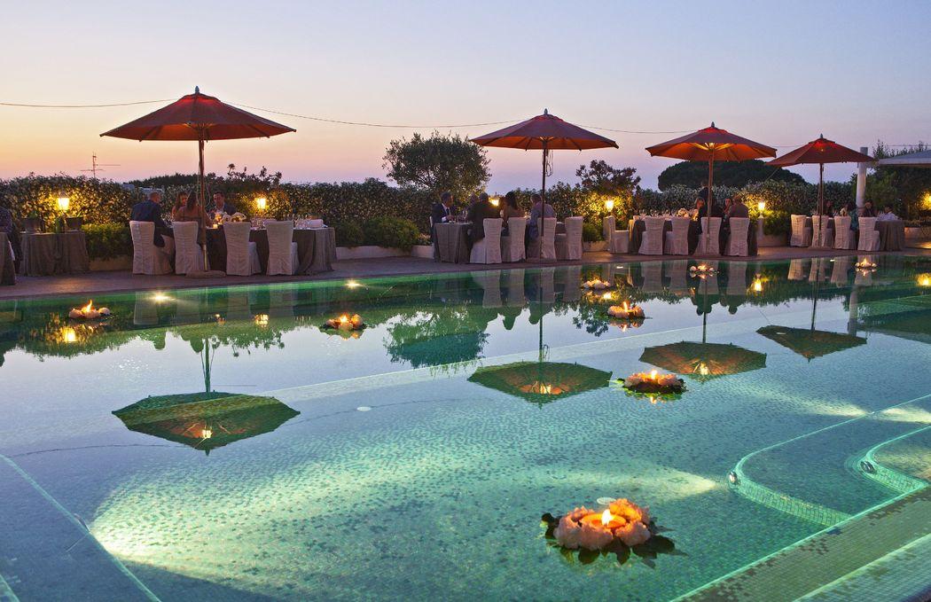 Capri Palace Hotel pool area