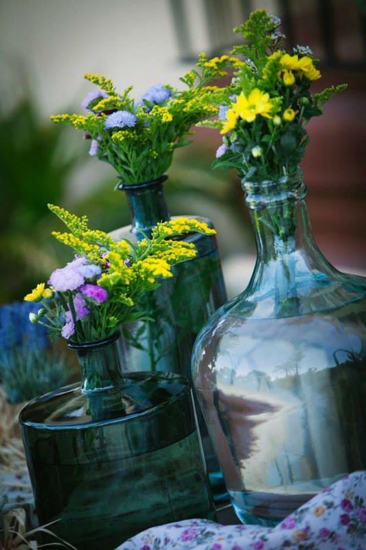 Decoración con flores silvestres