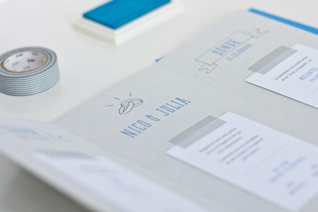 Invitacion | Think in blue love