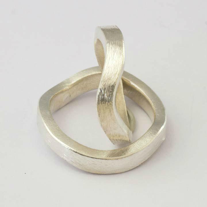 Beispiel: Trauringe - Silber, Foto: Goldschmiede Mussel.