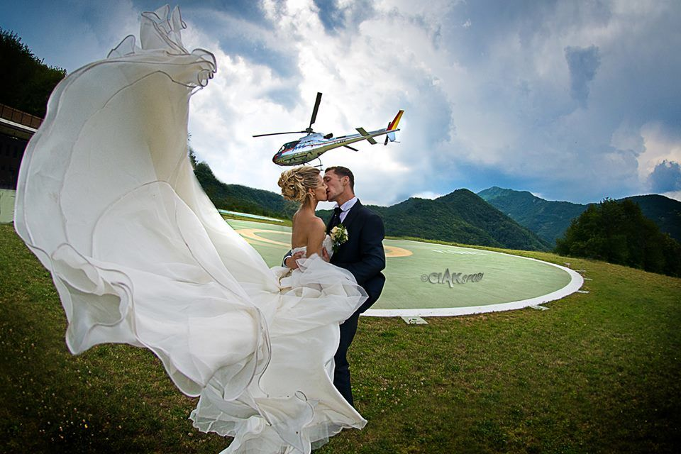 Volo In elicottero Villa Pighet