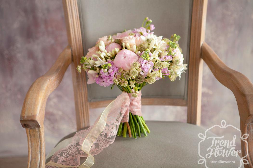 Нежный пастельный букет невесты
