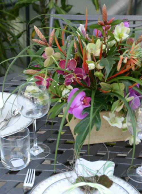 Beispiel: Tischdekoration, Foto: Sommerer Blumen.