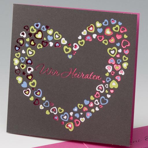 Beispiel: Hochzeitseinladung, Foto: einladungskarten4you.