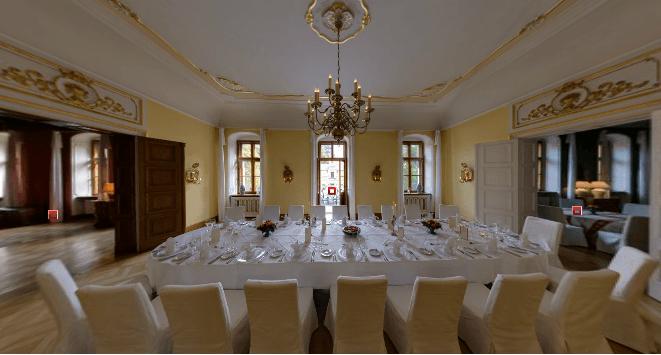 Beispiel: Barocksaal, Foto: Schloss Proschwitz.