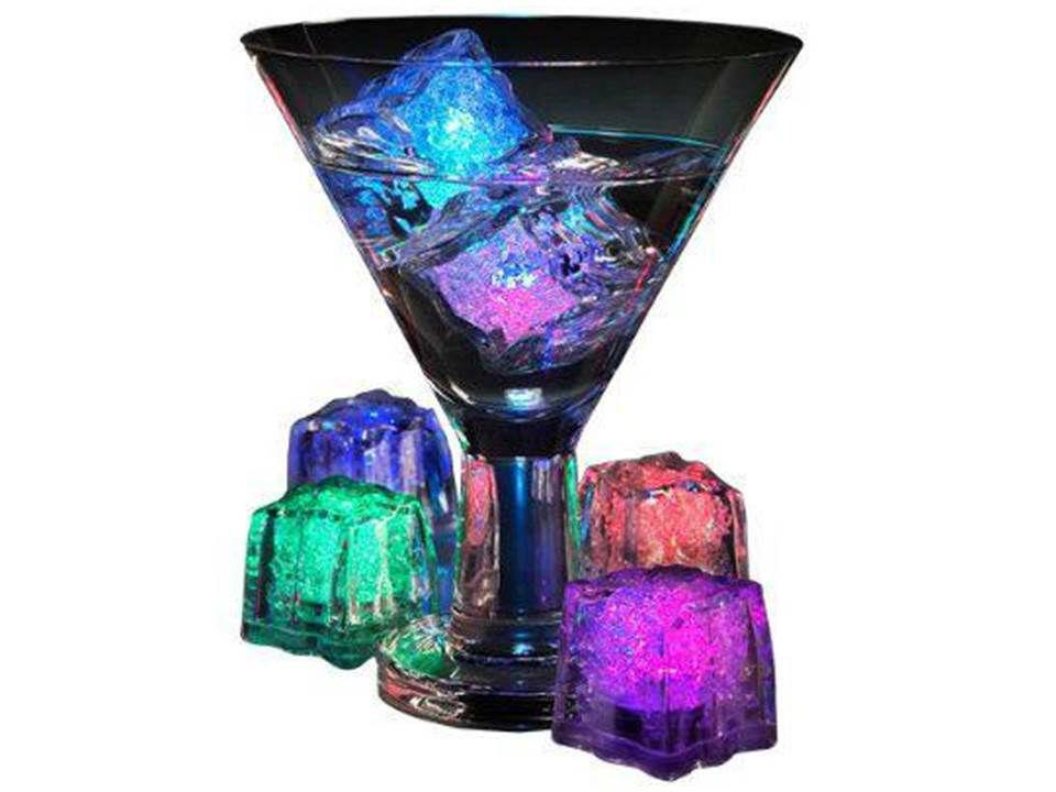 Cubitos de hielo con luz LED