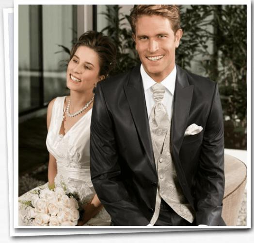 Beispiel: Mode für den Bräutigam, Foto: Herrenausstatter Willhoeft.