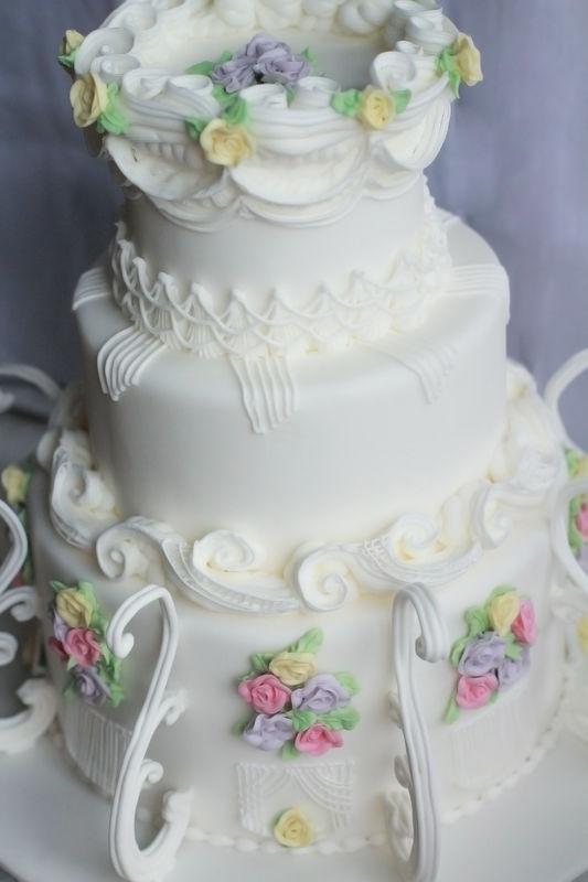 Свадебный торт,декор в технике