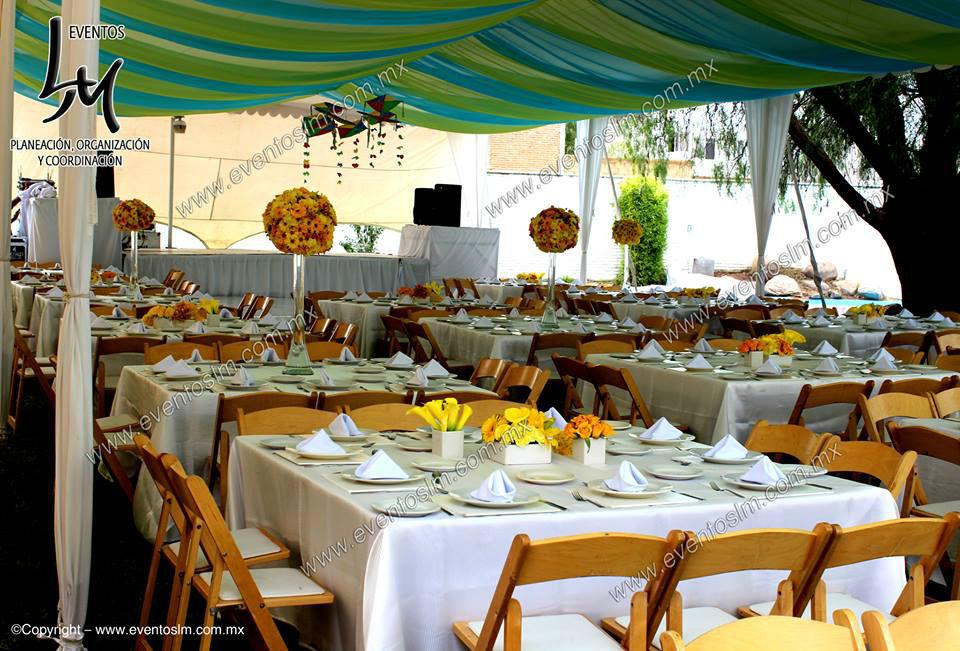 Mario Delgadillo, Professional Wedding Planner, plafón de tela en colores, para Bautizo