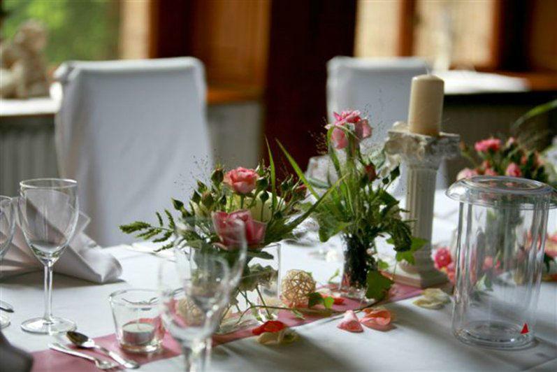 Beispiel: Hochzeitsdekoration, Foto: Schloss Neetzow.