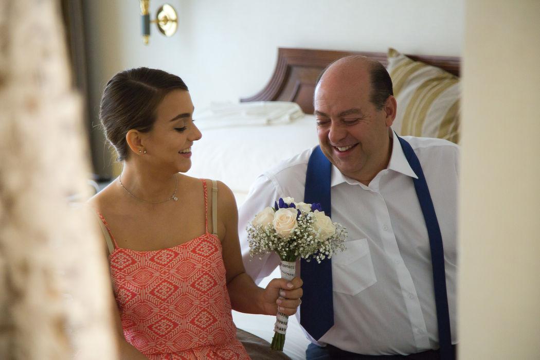 Novia y padre  - Prepraración de la novia