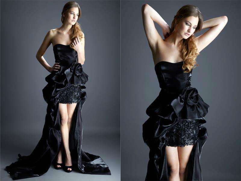 Beispiel: Abendkleid, Foto: Samyra Fashion.