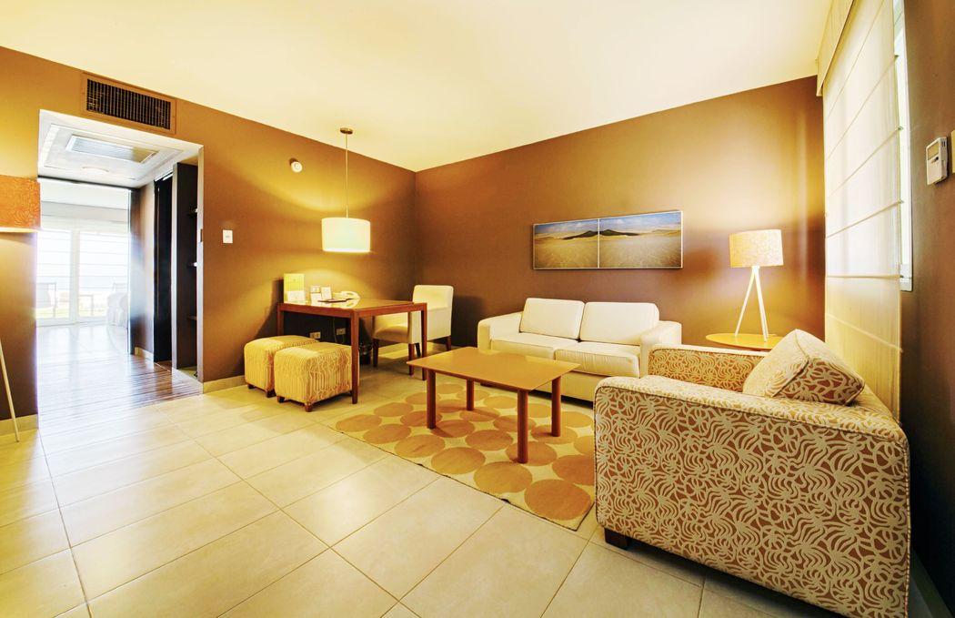 Sala de estar en la Suite