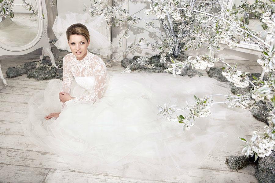 Beispiel: Hochzeitsmode, Foto: Mery's Couture Bern.