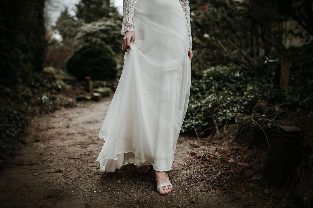 iek's Bohemian Bruidsjurken