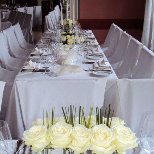 Beispiel: Gestaltung Ihrer Hochzeitslocation, Foto: Das Deko Team.