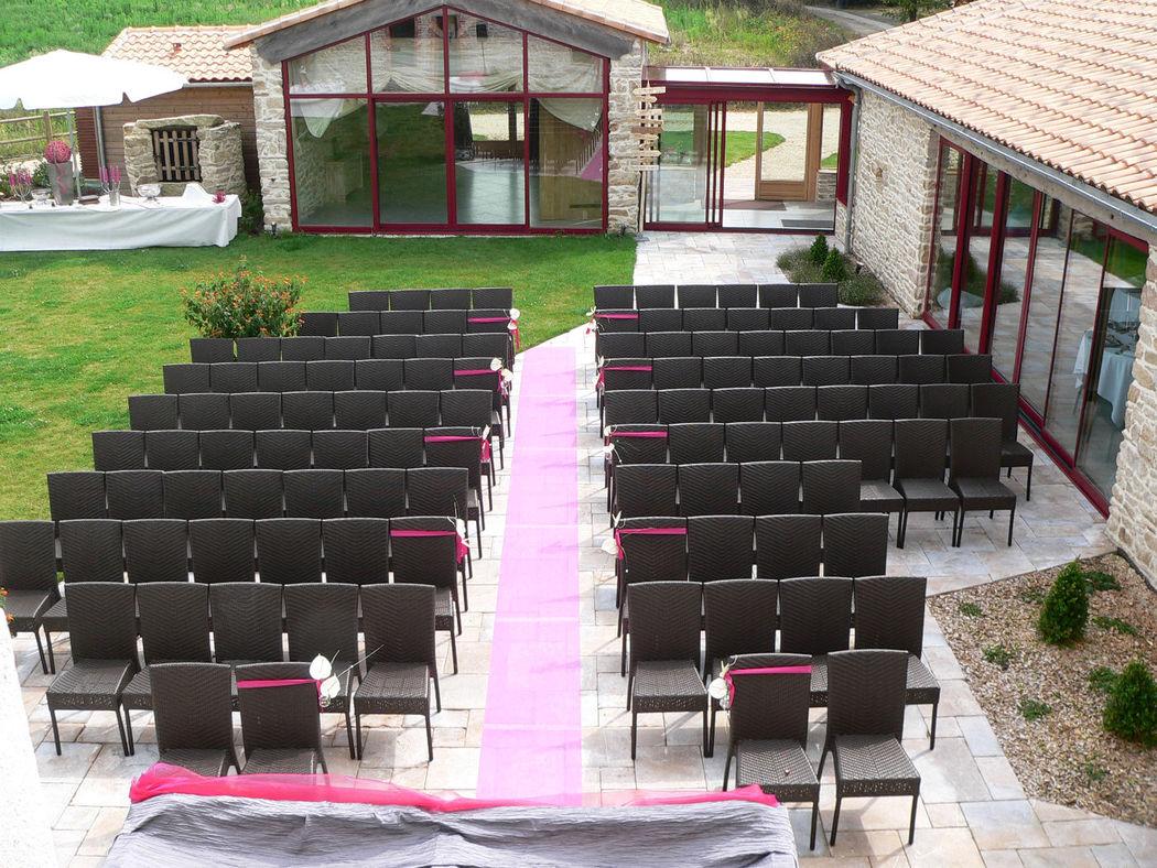 Mariage civile sur la terrasse