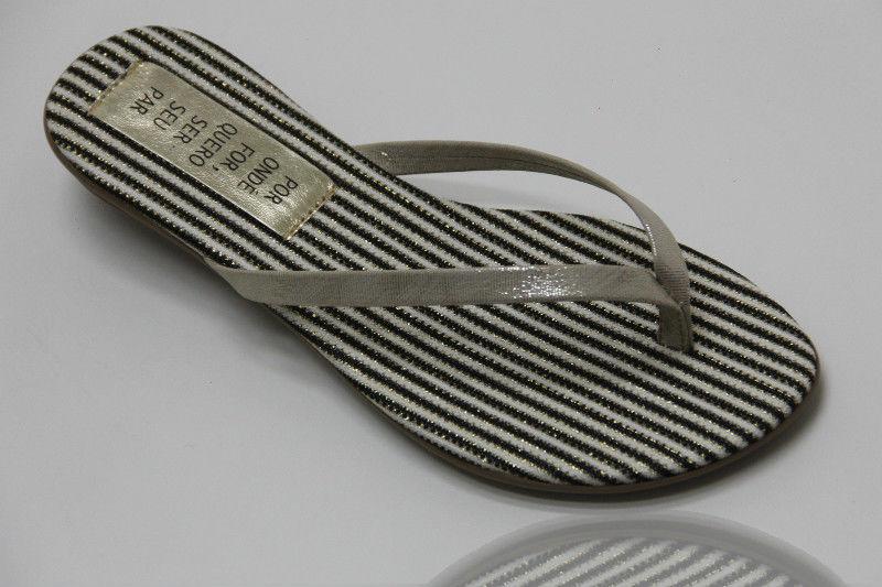 Slim Fashion Listrada com Tira Lamê Ouro Light