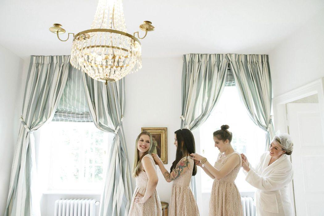 Getting Ready auf Hochzeit