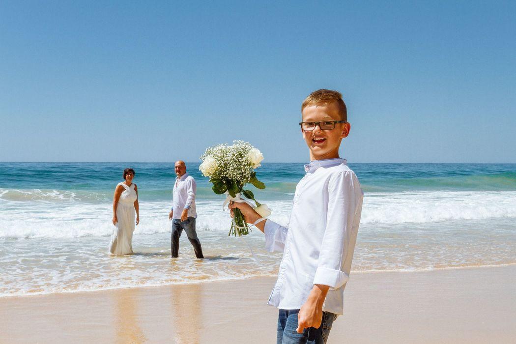 Mr & Mrs Richter & filho  Casamento exclusivamente os 3  Que dia magnifico que foi... <3
