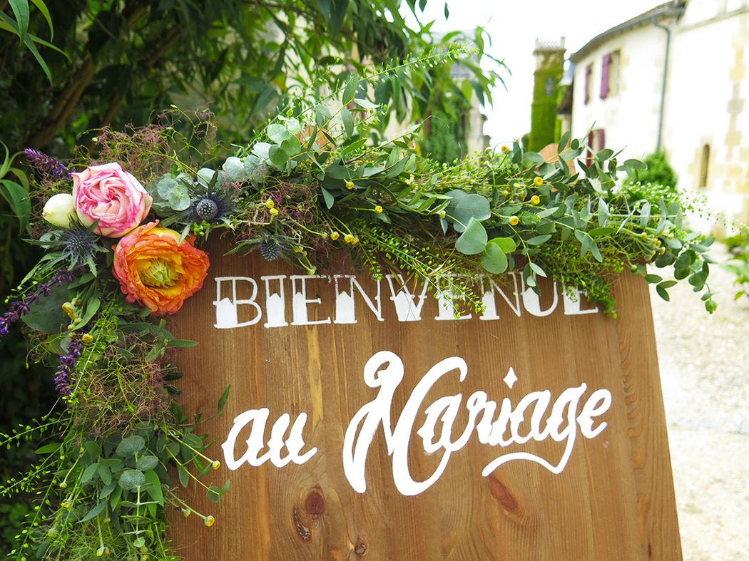 Herbes Fauves - Guirlande fleurie pour panneau de bienvenue (décoration Elle Imagine)
