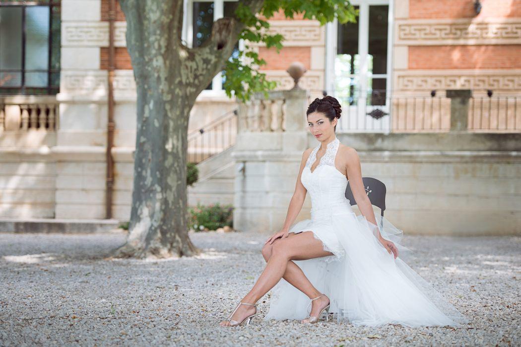 Collection Mariées de Provence 2017 - modèle ALLIANCE avec sur jupe longue