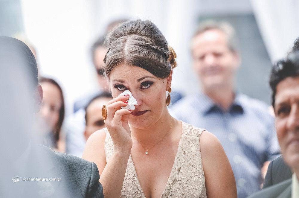 Madrinha em lágrimas