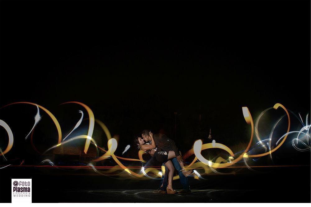 Sesión de compromiso, jugando con la luz