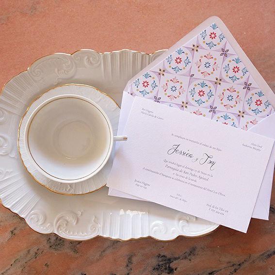 Invitaciones de boda clásicas+sobres vintage