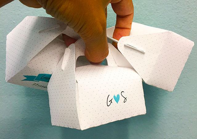 Box porta confetti Blue Tint