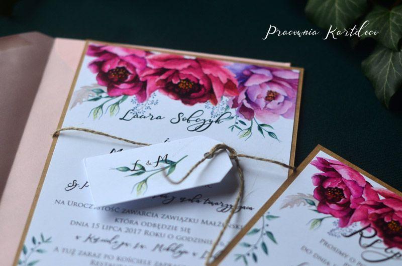 Zaproszenia Ślubne BOHO BOHO
