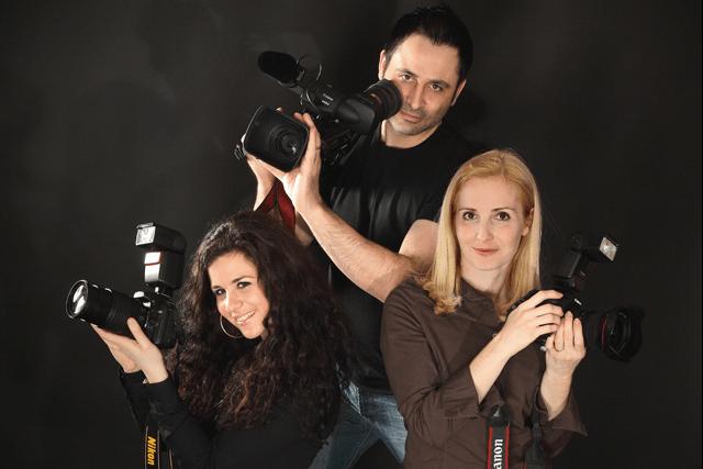 Beispiel: Das Foto- und Filmteam, Foto: Troy Productions.