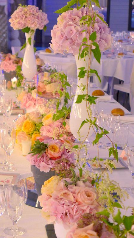 GoodMoon - Décoration de Mariage couleurs pastel - Rose anciennes et RosesAnglaises  David Austin