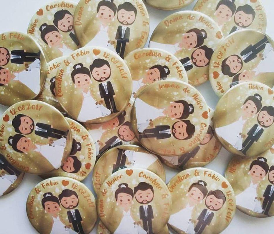 Imans/ Espelhos Personalizados - Wedding Lovers