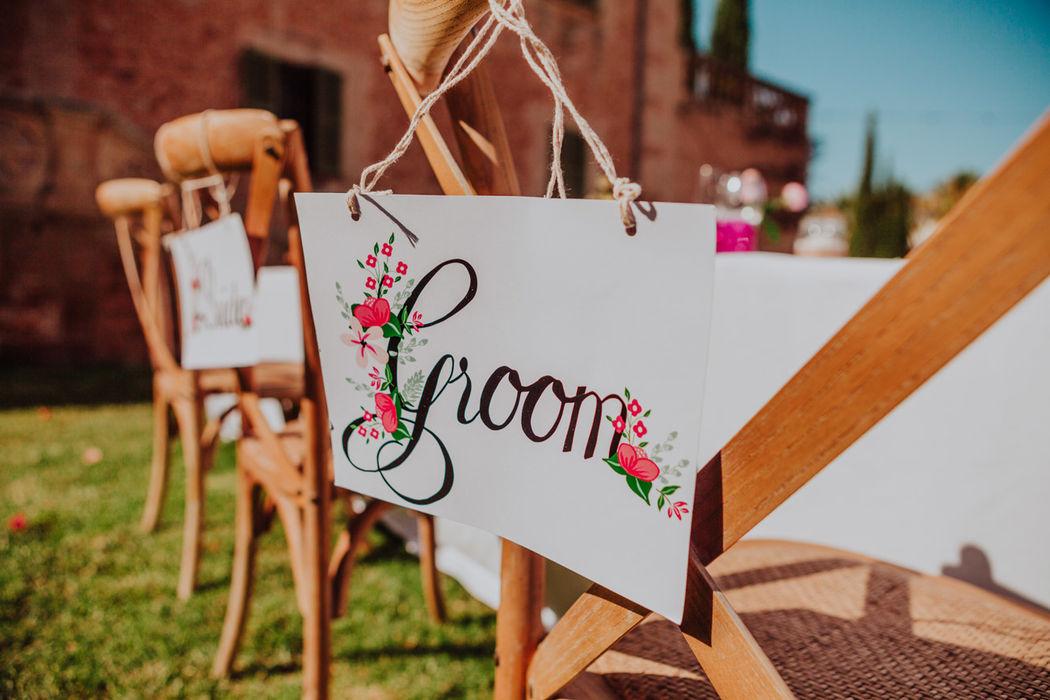 cartel silla aire libre rústico decoración