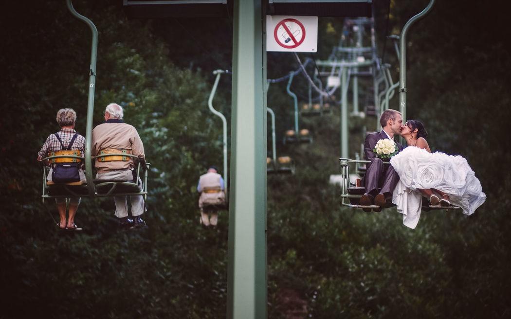 Beispiel: Individuelle Hochzeitsfotografie, Foto: Robin Schimko Photography.