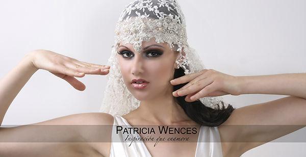Mantilla tul rebordado en perlas y tocado en encaje francés. www.patriciawences.com.mx